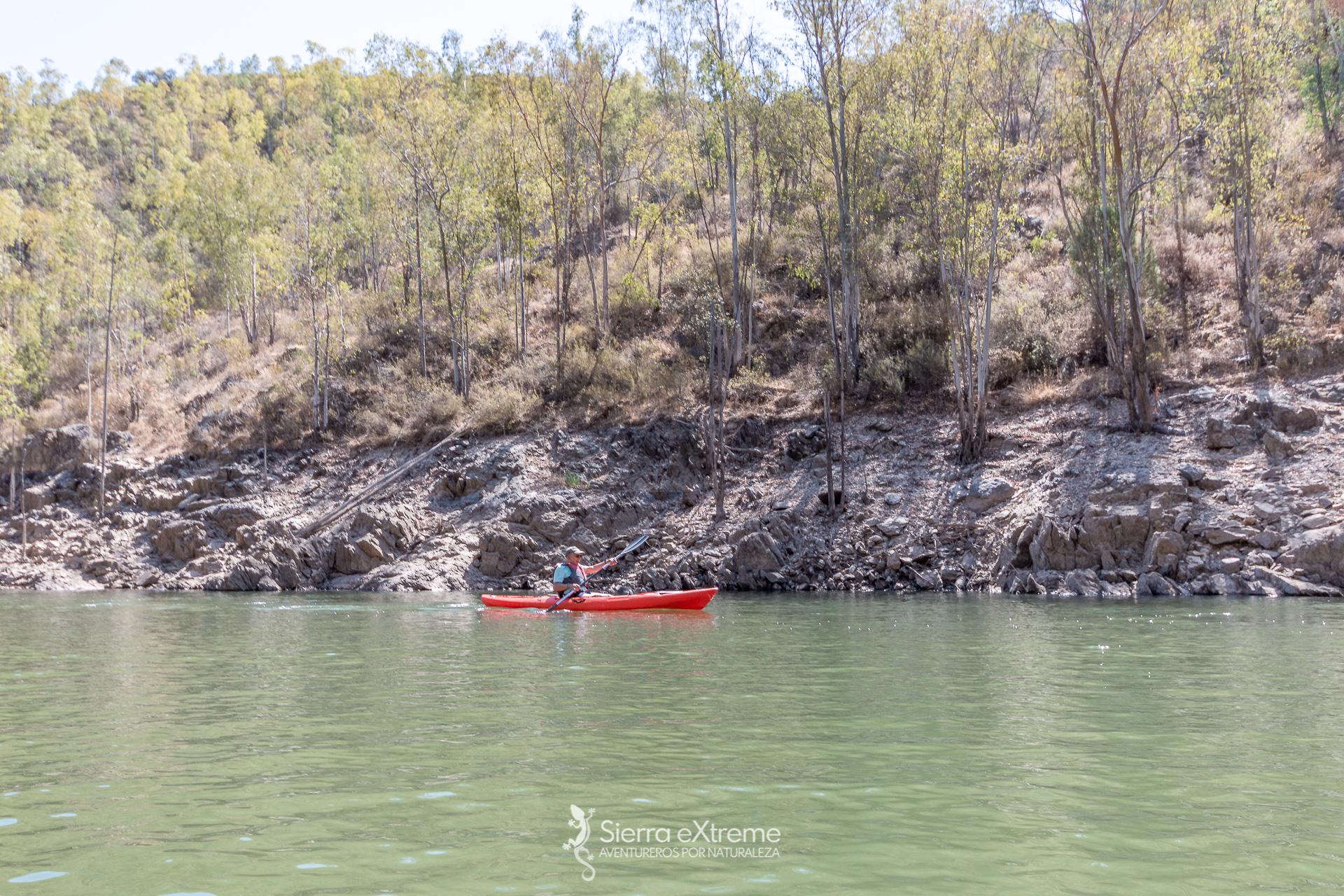 rutas en kayaks cerca de aracena